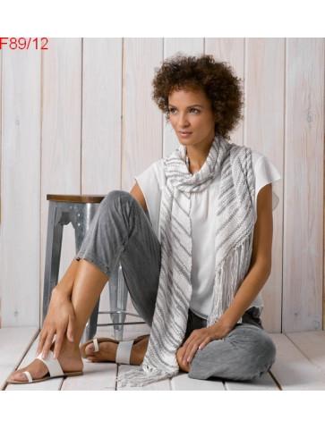 Modèle Echarpe en biais femme Laine Katia coton Cannes