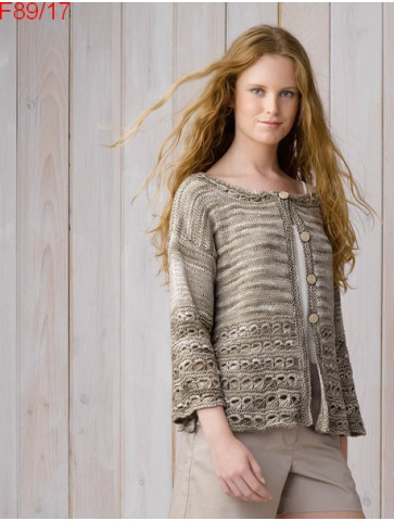 Modèle Gilet Femme Laine Katia coton Tahiti jeans