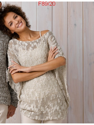Modèle Tunique Femme Laine Katia coton Créta