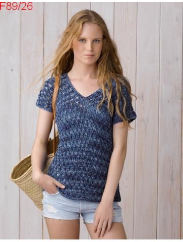 Modèle Pull Femme Laine Katia coton Tahiti jeans