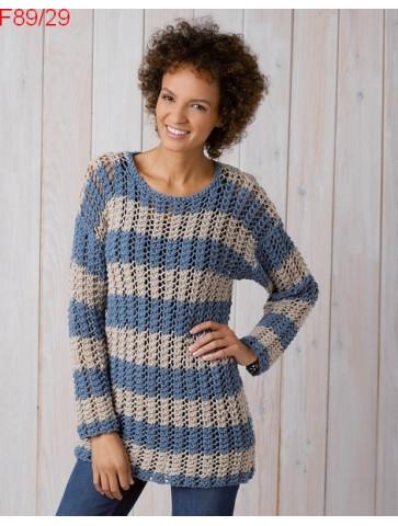 Modèle Pull Femme Laine Katia coton Big Alabama