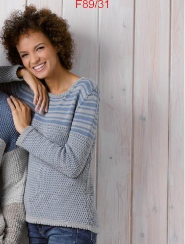 Modèle Pull Femme Laine Katia coton Cotton Stetch