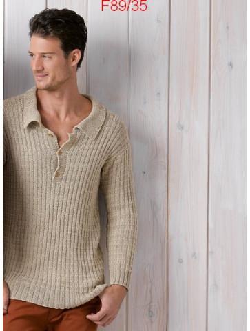 Modèle Pull Homme Laine Katia coton Cotton Cashmere