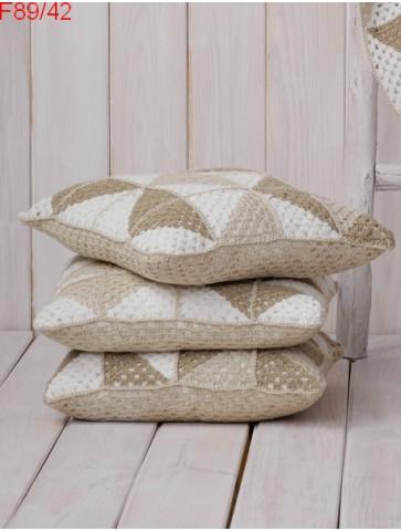 Modèle Coussin Laine Katia coton Linen