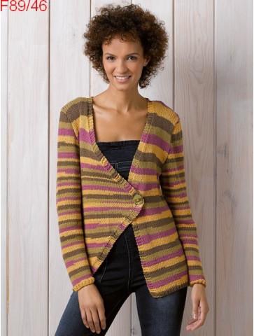 Modèle Gilet Femme Laine Katia coton Bari