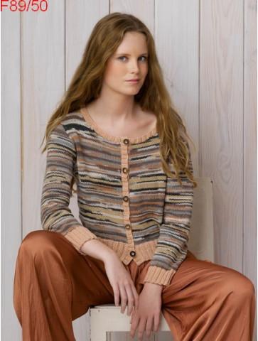 Modèle Gilet Femme Laine Katia coton Chromatic et Missouri