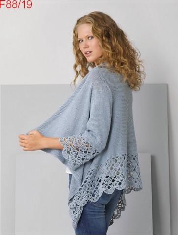 Modèle Veste poncho Femme Laine Katia coton Linen