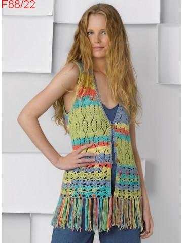 Modèle Gilet Femme Laine Katia coton Alabama Color