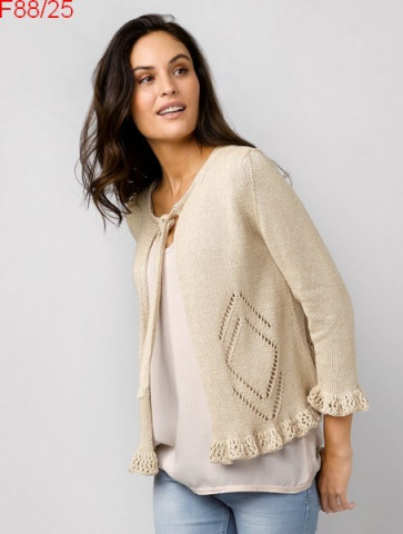 Modèle Gilet Femme Laine Katia coton Cotton Cashmere