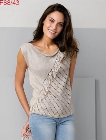 Modèle Pull Femme Laine Katia coton Cotton Cashmere
