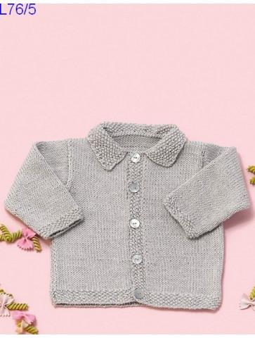 Modèle Cardigan bébé Laine Katia coton Cotton Cashmere