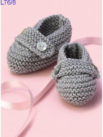 Modèle Chaussons bébé Laine Katia coton Cotton Cashmere