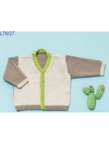 Modèle Gilet bébé Laine Katia coton Cotton 100%