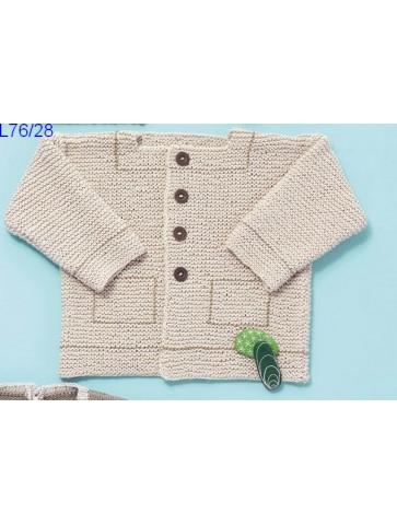 Modèle Paletot bébé Laine Katia coton Cotton 100%