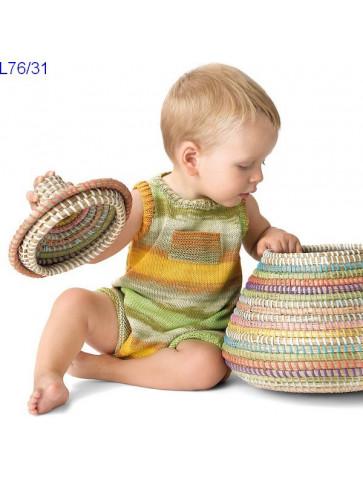 Modèle Barboteuse bébé Laine Katia coton Candy
