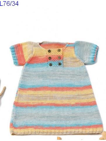 Modèle Robe bébé Laine Katia coton Candy