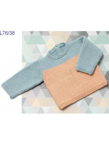 Modèle Pull bébé Laine Katia coton Missouri
