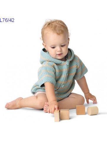 Modèle Paletot bébé Laine Katia coton Alabama