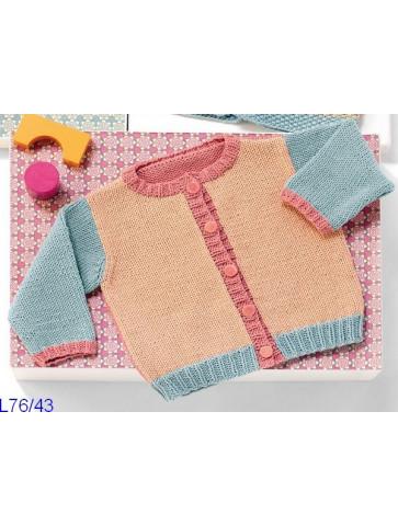 Modèle Cardigan bébé Laine Katia coton Missouri