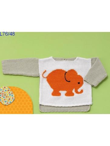Modèle Pull bébé Laine Katia coton Cotton Stretch