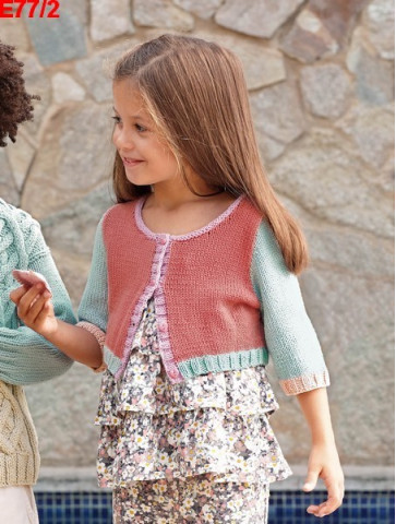 Modèle Gilet Fille Laine Katia coton Missouri