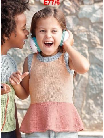 Modèle Top Fille Laine Katia coton Missouri