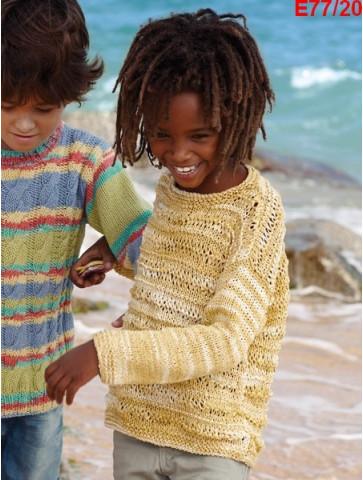 Modèle Tunique Fille Laine Katia coton Tahiti Jeans