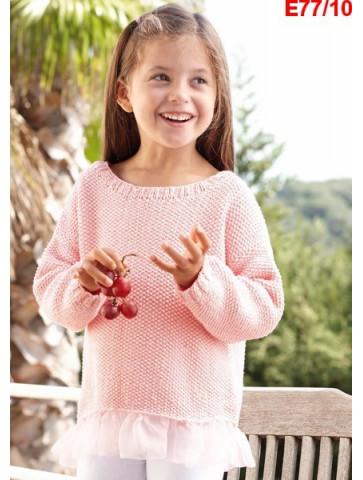 Modèle Pull Fille Laine Katia coton Cotton 100%