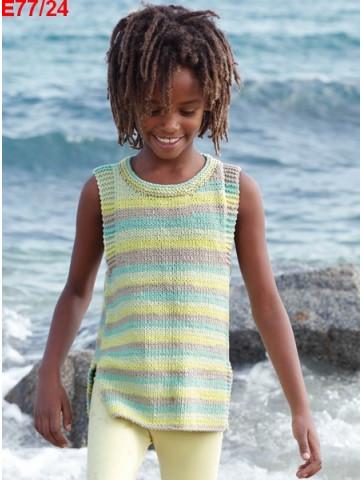 Modèle Tunique Fille Laine Katia coton Bari