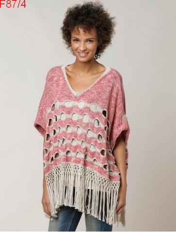 Modèle Poncho Femme Laine Katia coton Cotton Vintage et Cotton 100%