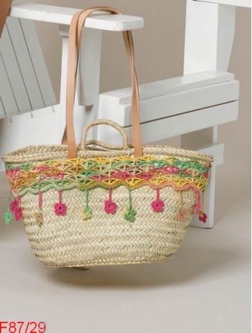 Modèle Volant fleuri pour panier en accessoires Laine Katia coton Chromatic er Missouri