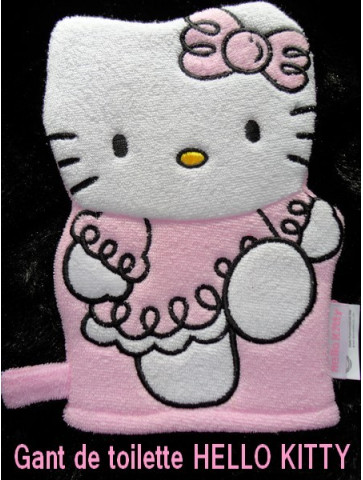 Gant de toilette Hello Kitty