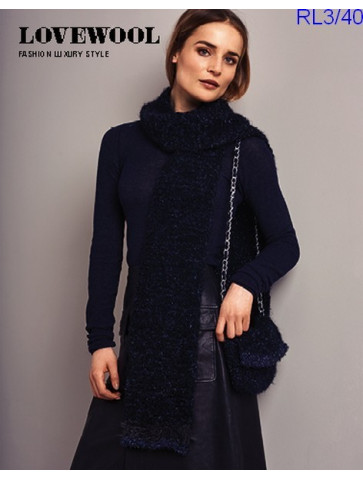 Modèle Echarpe Femme Laine Rico Design Fashion Luxury Bouclé, Glamour et Style