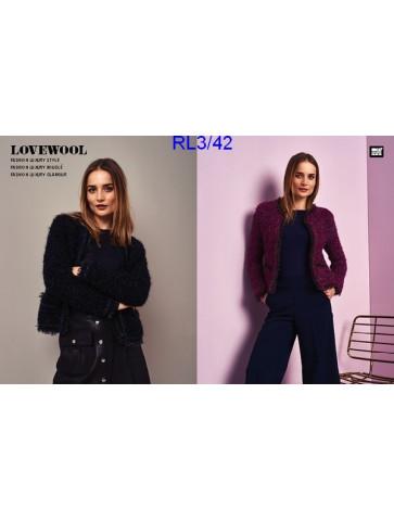 Modèle Veste Femme Laine Rico Design Fashion Luxury Bouclé, Style et Glamour