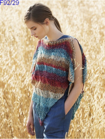 Modèle Poncho Femme Laine Katia coton Degrade Sun