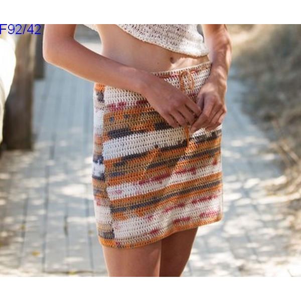 Modèle Jupe Femme Laine Katia coton Degrade Sun