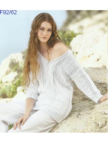 Modèle Pull Femme Laine Katia coton Fair Cotton