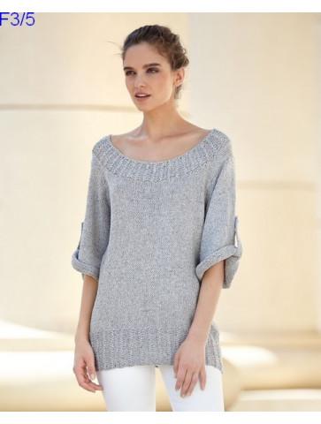 Modèle Tunique Femme Laine Katia Concept coton Silk Viscose