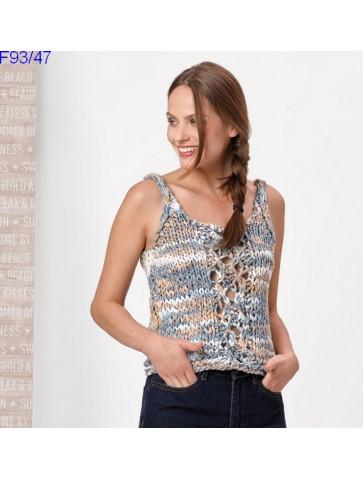 Modèle Débardeur Femme Laine Katia coton Washi Print