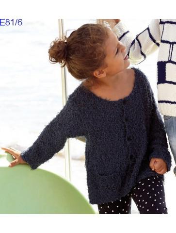 Modèle Gilet Fille Laine Katia coton Oasis