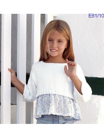 Modèle Top Fille Laine Katia coton Malibu et Cotton 100%