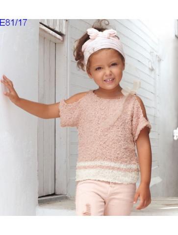 Modèle Pull Fille Laine Katia coton Oasis