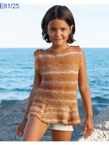 Modèle Tunique Fille Laine Katia coton Oceania