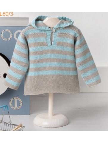 Modèle Pull Bébé Laine Katia coton Fair Cotton