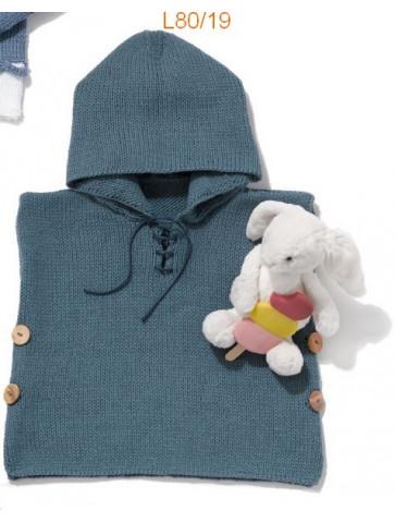 Modèle Poncho Bébé Laine Katia concept coton Cotton Yak