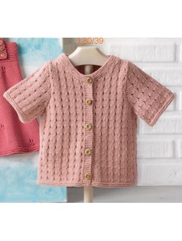 Modèle Cardigan Bébé Laine Katia coton Fair Cotton