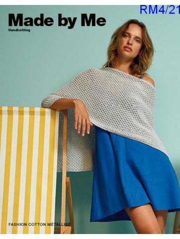Modèle Poncho Femme Laine Rico Design Fashion Cotton Métallisé