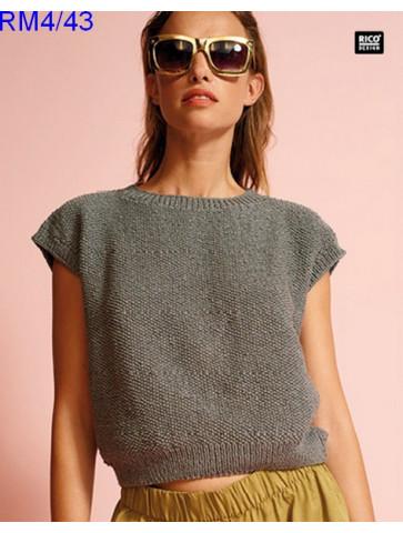 Modèle Top Femme Laine Rico Design Fashion Cotton Métallisé