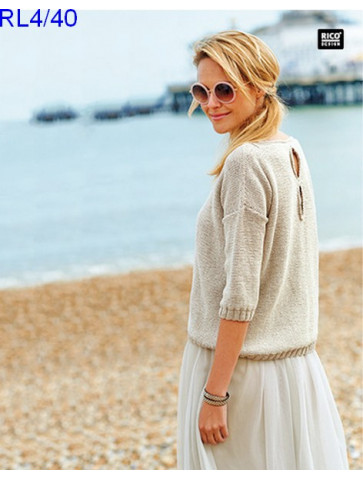 Modèle Pull Femme Laine Rico Design Fashion Cotton Métallisé