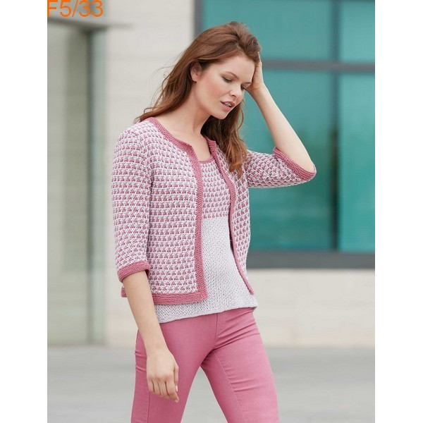 Modèle Veste Femme Laine Katia Concept coton Cotton Alpaca
